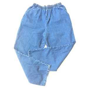 Vintage chic high waisted jeans elastic 16 petite